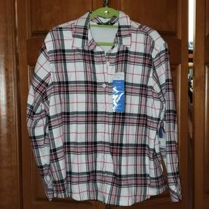 Soft lined flannel top